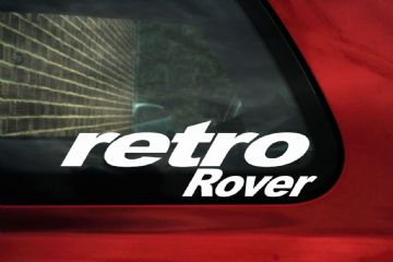 Retro Rover sticker